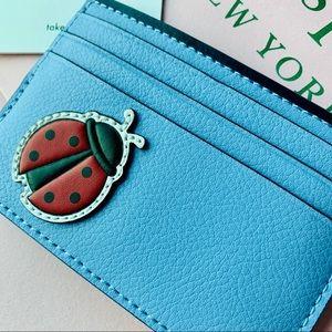 NWT Kate Spade 🐞 ladybug coin card purse wallet